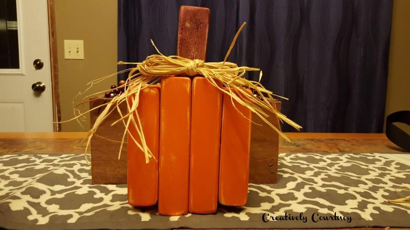 2x4 Pumpkin Finished