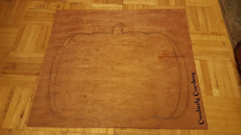 Door Pumpkin Drawing