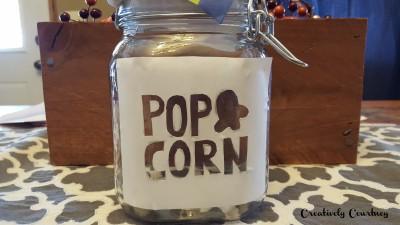 Popcorn Jar Design On Jar