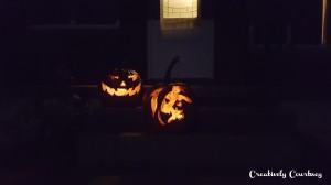 Pumpkins all lit up 2