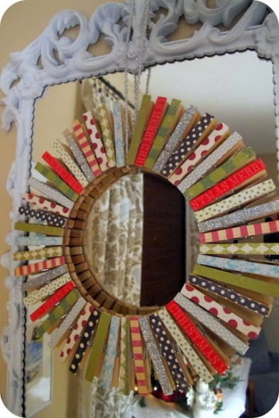 2 Superflouus Clothspin Wreath