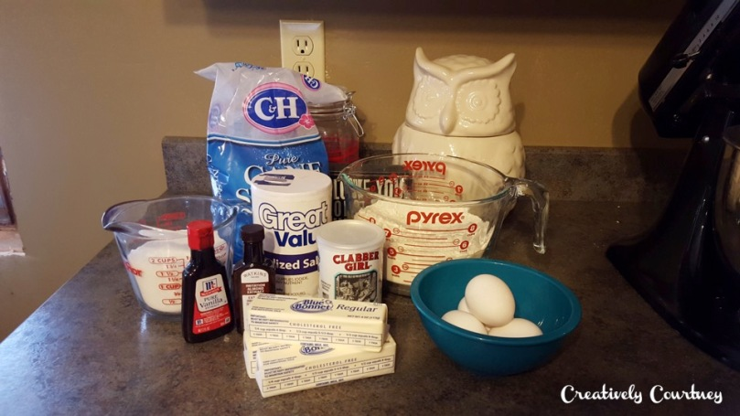Sugar Cookie Ingrediants