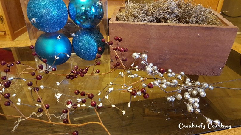Winter Table Centerpiece -Supplies
