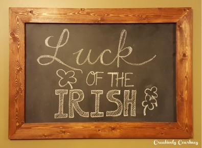 Chalkboard Art -St. Patrick's Day