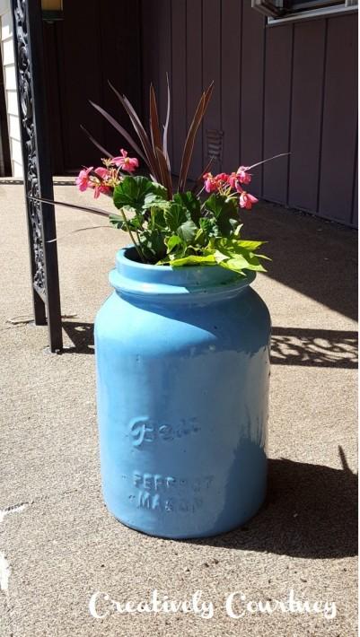 Mason Jar Planter -Finshed 2