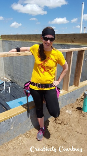 Notice my awesome pink tool belt!